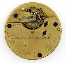 MAPPIN & WEBB LONDON ENGLISH LEVER GOING BARREL POCKETWATCH MOVEMENT SPARES Q118