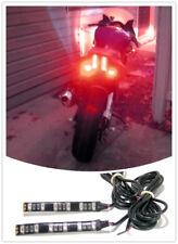 2PCS Universal Motorcycle Led Red Tail Brake Signal Running Light 12V STRIP
