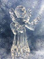 "New Mikasa Angelic Harmony Figurine Full  Lead Crystal  7 "" Christmas Holiday"