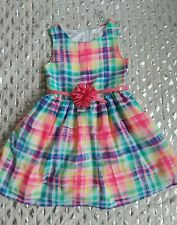 The Childrens Place colorful girls belted dress sz 5 NWT