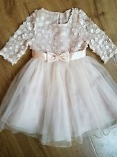 BONNIE JEAN FORMAL CHAMPAGNE DRESS SZ 6