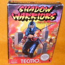 VINTAGE 1991 NINTENDO NES SHADOW WARRIORS NINJA GAIDEN CARTRIDGE GAME BOXED RARE
