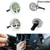 35MM Fragrance Essential Oil Diffuser Steel Car Air Vent Freshener Aromatherapy