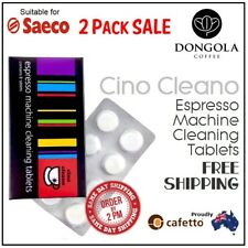 2PK SAECO Espresso Coffee Machine Cleaning Tablets Cafetto Cino Cleano