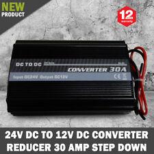NEW 24V DC TO 12V DC Automobile Converter Reducer 30 AMP Step Down