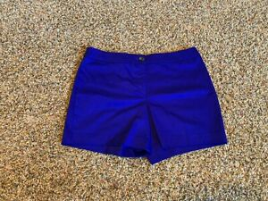 NEW! Worthington Modern Fit Dress Shorts Size 8 Solid Purple Blue Flat Front