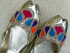 ROYAL GOLD   LADIES INDIAN WEDDING PARTY KHUSSA SHOE SIZE 4