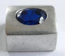 Anhänger blauer geschliffener Edelstein Silber 925 Vintage 70er silver pendant
