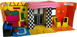 Vintage 1968 Barbie Family House #1066 Modern With Furniture