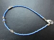 New Pretty Disney World Blue Delicate little Glass Beaded Butterfly Bracelet
