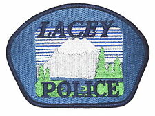 LACEY WASHINGTON WA Police Sheriff Patch SNOW CAPPED MOUNTAIN EVERGREEN TREES ~