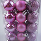 24PCS 3/4/6/8cm Christmas Xmas Tree Ball Bauble Hanging Party Ornament Decor AU