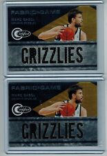 (2) 2010-11 CERTIFIED MARC GASOL JUMBO TEAM NAME JERSEY LOT 113/299 242/299