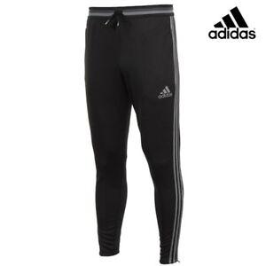 ADIDAS CONDIVO 16 JUNIOR YOUTH FOOTBALL TRACKSUIT TRAINING PANTS BLACK XSY 7-8