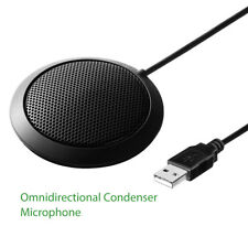 Desktop 360° Omnidirectional Condenser Microphone for Teleconferencing Meeting