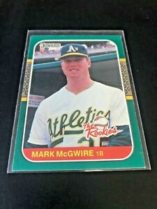 1987 DONRUSS ROOKIES #1 MARK McGWIRE ROOKIE CARD (RC), OAKLAND A'S
