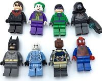 LEGO LOT OF 8 SUPERHERO MINIFIGURES JOKER BATMAN DC MARVEL HERO GENUINE FIGS