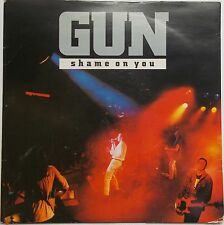 "Gun - Shame On You / Better Days 1990s Classic Hard Rock 7"" Vinyl Record 45RPM"