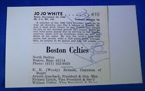 JO JO WHITE HOF dec 2018 autographed signed auto 3x5 Boston Celtics GSW+ 1969-61