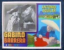 """GABINO BARRERA"" ANTONIO AGUILAR MARIA DUVAL N MINT LOBBY CARD PHOTO 1964"