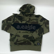 American Eagle Men Ae Ultra-soft Graphic Green Camo Pullover Hoodie Choose Size