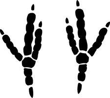 raven track / footprint sticker / bird decal