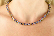 44.33TCW Tanzanite and Diamond Necklace in 14K Yellow Gold. Appraised over 54K!