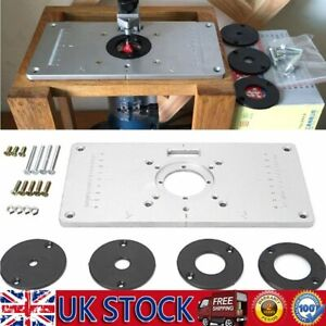 Aluminum Alloy Router Table Insert Plate Woodworking Trimming Machine Flip Board