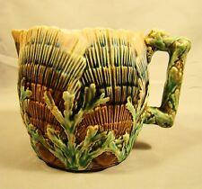 Etruscan Majolica Shell & Seaweed Pattern CreamerJug Pitcher c1880's