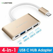 LENTION USB-C 3.1 to USB 3.0 HUB Adapter PD Charger for 2016-2020 MacBook Pro