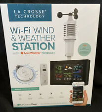 LACROSSE TECHNOLOGY WI-FI WIND & WEATHER STATION AccuWeather Forecast S82950 New