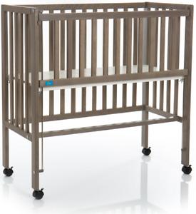 Beistellbett Boxspring Fillikid Cocon Plus grau Babybett Anstellbett Holz Gitter