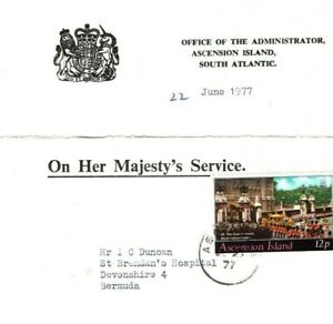 ASCENSION OHMS Cover *Administrator's Office* Cachet Bermuda Hospital 1974 EB86