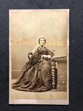 Victorian Carte De Visite CDV: Easton: London: Grand Lady At Writing Desk