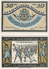 Germany 50 Pfennig 1921 Notgeld Lutjenburg AU-UNC Banknote - No.3