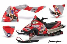 AMR Racing Sled Wrap Polaris Fusion Snowmobile Graphics Kit 2005-2007 TBOMB RED