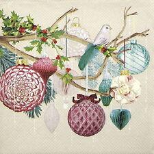 Servilletas papel 4x-Crema espíritu de la Navidad-Para Fiesta, Decoupage Craft