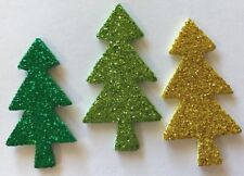 GLITTER CHRISTMAS TREE Dimensional Foam Stickers(12pc)Holiday•Forest •Green•Gold
