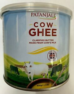PATANJALI PURE GHEE BEST QUALITY  COW GHEE 100% PURE NEW STOCK 500g