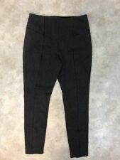 Lysee Women's Gray Heathered Viscose Faux Pocket Stretch Leggings Sz L