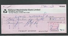 Wbc. - chèque forme-CH21-utilisée-années 1980-nat west. london WC1-société