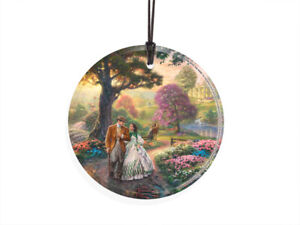 Gone With the Wind Thomas Kinkade Starfire Hanging Glass Ornament NEW