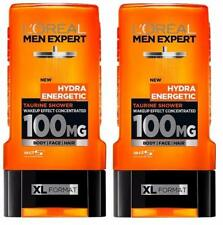 ** 2 X L'OREAL MEN EXPERT HYDRA ENERGETIC TAURINE SHOWER GEL 300ML EACH NEW BODY