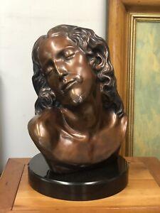 Head of Christ Bronze  Based on Madonna Della Pieta Michelangelo