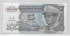 1993 ZAIRE MAKUTA CURRENCY...5 NOUVEAUX....CRISP INCIRCULATED
