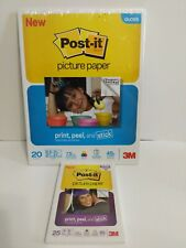 3M POST IT Picture Paper Gloss Print Peel and Stick  2 sizes.