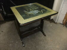Folding table oak 1930's 46x46cm top 50cm high