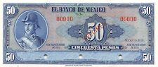 México  50  Pesos  8.9.1954  No Series  Specimen  Uncirculated Banknote ME50