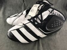 ADIDAS FOOTBALL CLEATS MEN'S SIZE 13 D G23207 NEW  BLACK/WHITE