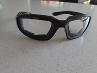 Motorcycle Riding Goggles Glasses Black Clear Lens Harley Davidson Cafe Racer